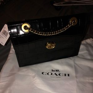NWT Coach Croc Parker in black